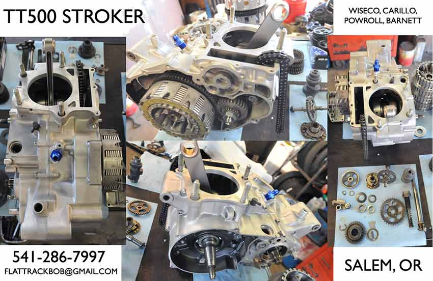 tt500 579cc stroker engines  brand new powroll stroker crank, carillo rod,  wiseco 90mm piston with relieved intake pockets  all new main and  transmission