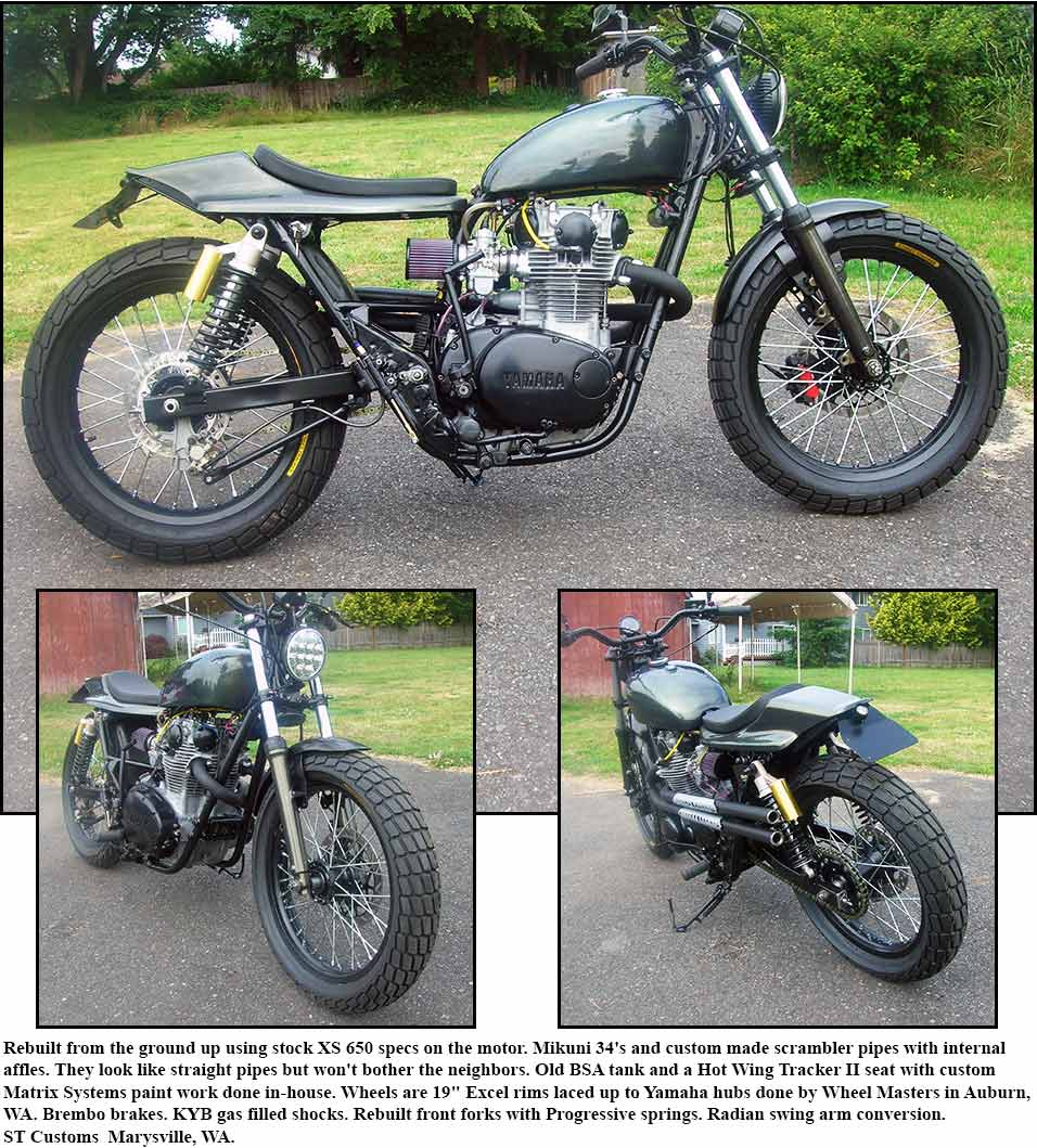 Street Trackers Yamaha Sr500e Motorcycle Front Disc Brake Caliper Diagram And Parts Richard Coopers Champion Tracker Is Now Owned By Mike Keith Clovis Ca A Good Friend Of Dan Rouit